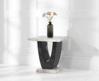 Raphael Cream Marble Side Table