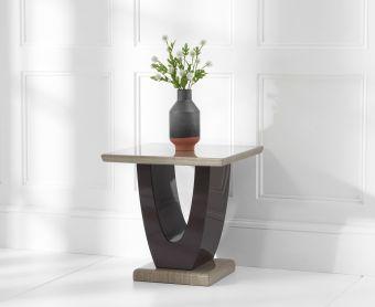 Raphael Brown Marble Side Table