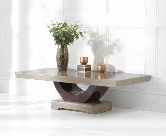 Raphael Brown Marble Coffee Table