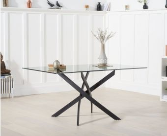 Montigue 160cm Glass Dining Table