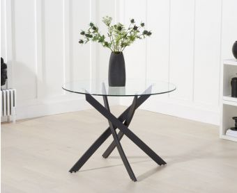 Montigue 100cm Round Glass Dining Table