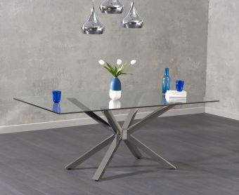 Rein 200cm Glass Dining Table