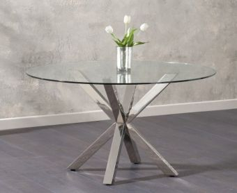 Reiner Round Glass Dining Table