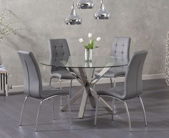 Reiner Round Glass Table with Calgary Chairs