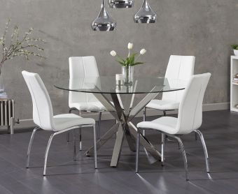 Reiner Round Glass Table with Cavello Chairs