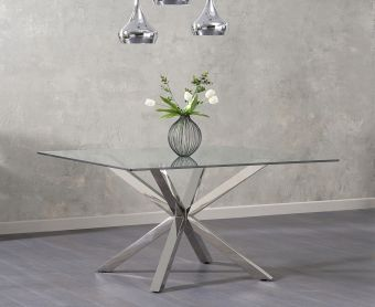 Reiner Square Glass Dining Table