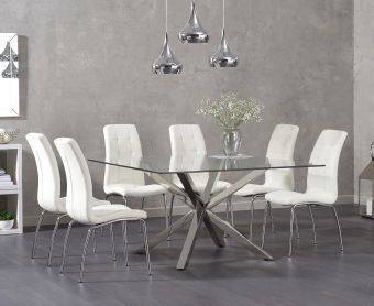 Reiner Square Glass Table with Calgary Chairs