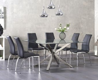 Reiner Square Glass Table with Cavello Chairs
