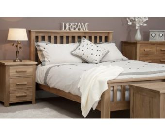 Opus Oak Double Bed