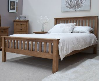 Rustic Oak Double Bed