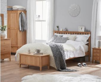 Suri Oak King size Bed