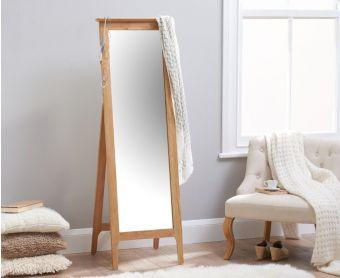 Suri Oak Cheval Mirror