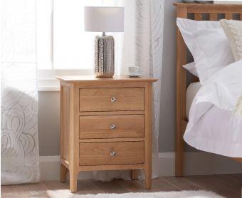 Suri Oak Large Bedside Table