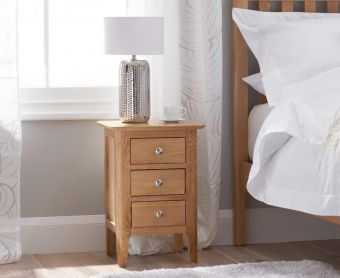 Suri Oak Small Bedside Table