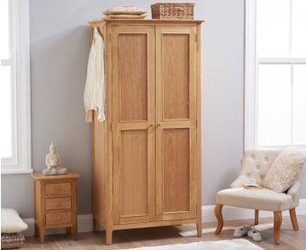 Suri Oak Two Door Wardrobe