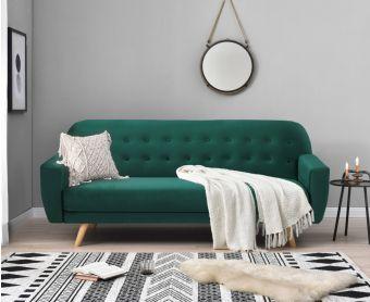 Scarla Green Velvet Sofa Bed