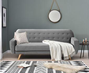 Scarla Grey Velvet Sofa Bed