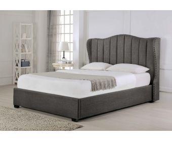 Sherwood Grey Fabric Ottoman Super King Size Bed