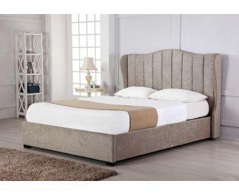 Sherwood Stone Fabric Ottoman Double Bed
