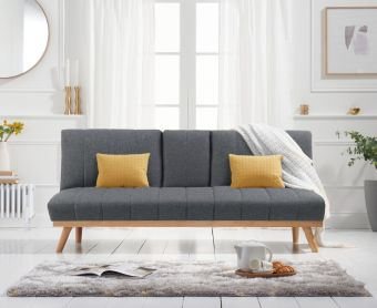 Sloane 3 Seater Sofa Bed in Grey Linen