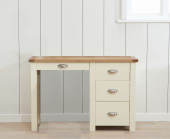 Somerset Oak and Cream Single Pedestal Dressing Table