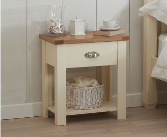 Somerset Oak and Cream Bedside Table