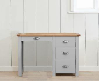 Somerset Oak and Grey Single Pedestal Dressing Table