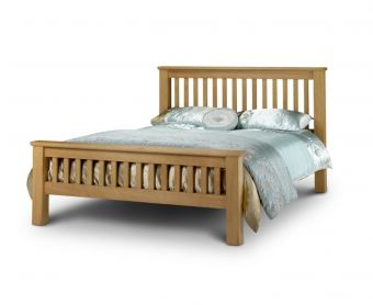 Haven Solid Oak High Foot End Super King Size Bed