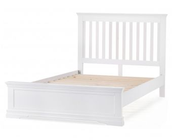 Budapest White Super King Size Bed
