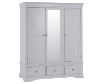 Simon Grey 3 Door Wardrobe