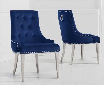 Talia Blue Velvet Dining Chairs
