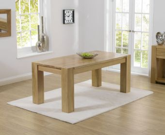 Thames 220cm Solid Oak Dining Table