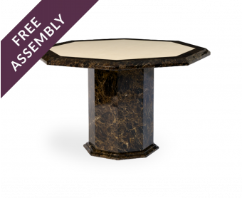 Tenore 120cm Octagonal Marble Dining Table