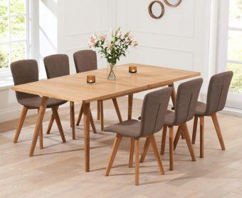 Tivoli 150cm Retro Oak Extending Dining Table and Chairs