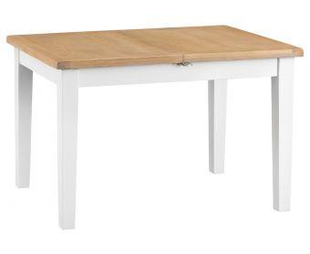 Ellen Oak and White 120cm Butterfly Extending Table