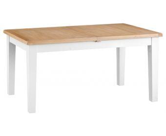 Ellen Oak and White 160cm Butterfly Extending Table