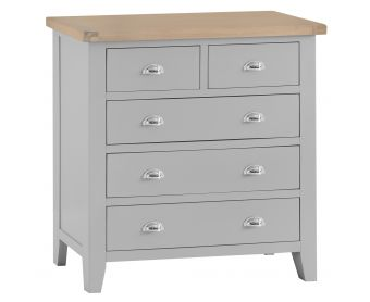 William Oak and Grey 2 Over 3 Chest of Drawers