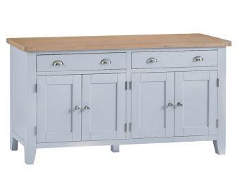 William 4 Door 2 Drawer Oak and Grey Sideboard