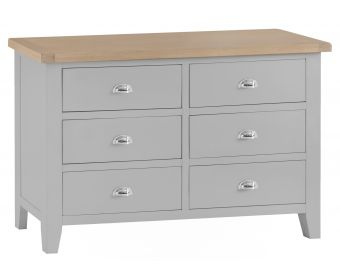 William Oak and Grey 6 Drawer Chest of Drawers