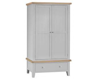 William Oak and Grey 2 Door 1 Drawer Wardrobe