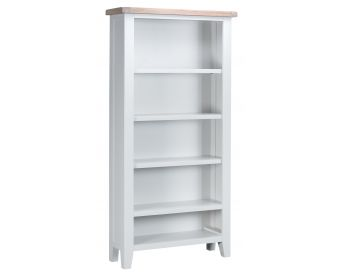 Ellen Oak and White Large Bookcase