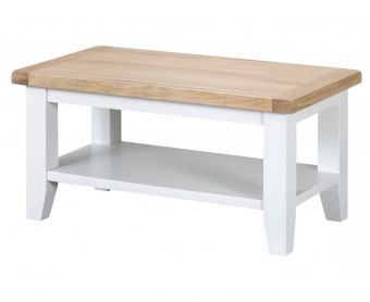 Ellen Oak and White Small Coffee Table