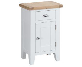 Ellen Oak and White Small Cupboard