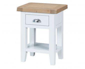 Ellen Oak and White Side Table