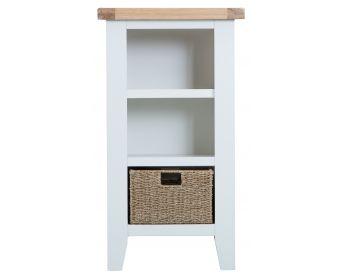 Ellen Oak and White Narrow Bookcase
