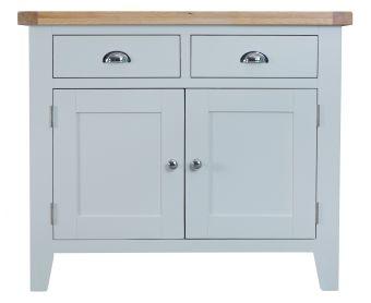 William 2 Door 2 Drawer Oak and Grey Sideboard