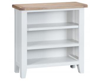 Ellen Oak and White Small Bookcase