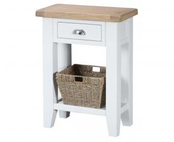 Ellen Oak and White Telephone Table