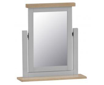 William Oak and Grey Trinket Mirror