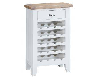 Ellen Oak and White Wine Cabinet